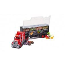 Dash Toyz Dinosaur Truck Trailer Toy Set (12-Piece)