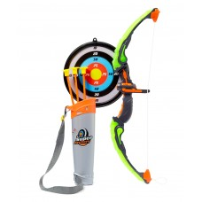 Dash Light Up Kids Archery Bow and Arrow Playset w/ 3 Light Modes, Suction Darts, Holder, Target - Green