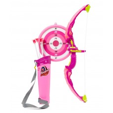 Dash Light Up Kids Archery Bow and Arrow Playset w/ 3 Light Modes, Suction Darts, Holder, Target - Pink