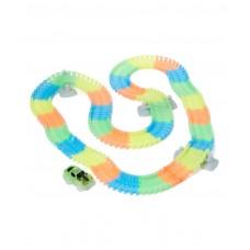 Dash Glow Track 192 Piece Toy Car & Flexible Track Playset w/ Toy Car