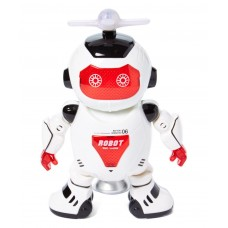 Dancing Robot Figure w/ Colorful Rotating Legs and hands, Music, Dancing Action
