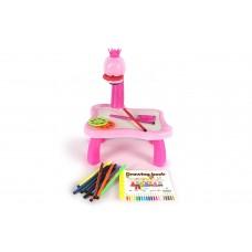 Dash Toyz Draw Art Projector Wet Erase Board Children's Kid's Toy Playset w/ Images,Sketchbook, Music, Markers