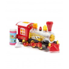 DT Luckiness Train Locomotive Engine Car Bubble Blowing Bump & Go Battery Operated Toy Train w/ Sounds& Lights