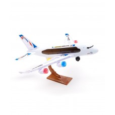 Children toy Bump & Go Battery Operated Plane, Flashing Lights & Sounds, Comes w/ Plane Stand