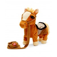 Dash Toyz Walking Pony Walk Along Toy Stuffed Pony Toy, Realistic Walking Actions with Horse Sounds and Music