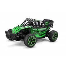 Extreme Dash RC Truggy Truck Buggy 1:18 Scale 4 Wheel Drive Rechargeable w/ Working Front Suspension RTR (Colors May Vary)