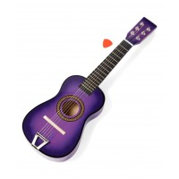 Dash Toyz Acoustic Beginners Children's Kid's 6 Stringed Toy Guitar W/ Guitar Pick(Color Purple)