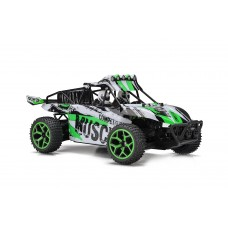 Dash Muscle RC Truggy Truck Buggy 1:18 Scale 4 Wheel Drive Rechargeable w/ Working Front Suspension (Colors May Vary)