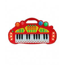 24 Key Multi-Functional Musical Star Electric Organ Children's Kid's Battery Operated Toy Piano Keyboard Instrument w/ Lights & Music