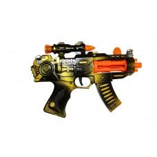 Dash Pistol Children Kid's Pretend Play Battery Operated Toy Gun w/ Lights, Sounds, Inlcudes Shoulder Strap